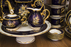 Elegant tea set Royalty Free Stock Photos