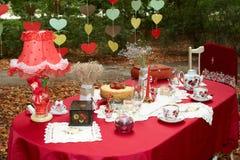 Elegant tea table Stock Images