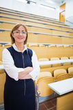 Elegant teacher standing in the lecture hall Stock Photo