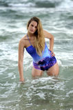 Elegant teen in the sea Stock Images