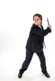 Elegant teenage boy throws laptop Stock Photos