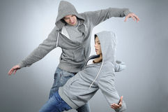 Elegant teenagers dancing Stock Photography
