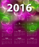 Elegant template for 2016 calendar Royalty Free Stock Image