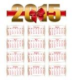 Elegant template  of calendar Stock Photography