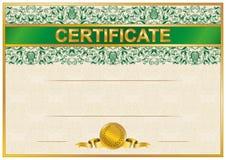 Elegant template of certificate, diploma Stock Images