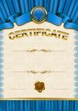Elegant template of certificate, diploma Royalty Free Stock Photo