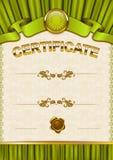 Elegant template of certificate, diploma Stock Photos