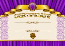 Elegant template of certificate, diploma Royalty Free Stock Images