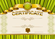 Elegant template of certificate, diploma stock illustration