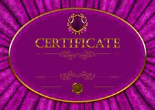Elegant template of certificate, diploma Stock Photography