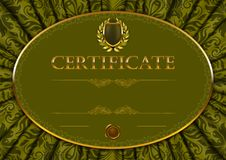 Elegant template of certificate, diploma Royalty Free Stock Photo