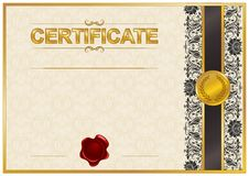Elegant template of certificate, diploma Royalty Free Stock Images