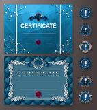 Elegant template of certificate, diploma Stock Images