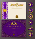 Elegant template of certificate, diploma Stock Image