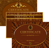 Elegant template of certificate, diploma Royalty Free Stock Photography
