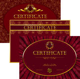 Elegant template of certificate, diploma Stock Photo