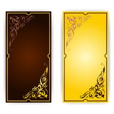 Elegant template for greeting card, invitation Stock Photos