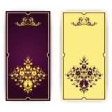 Elegant template for greeting card, invitation Royalty Free Stock Photography