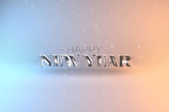 Elegant Template for Happy New Year Card or Banner with Shiny Te Stock Images