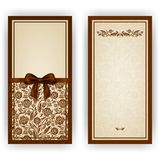 Elegant  template for invitation, card Royalty Free Stock Photo