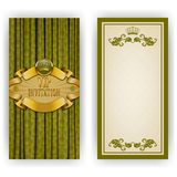 Elegant template for vip luxury invitation Stock Images