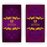 Elegant template for vip luxury invitation Royalty Free Stock Photos