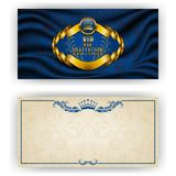 Elegant template for vip luxury invitation Stock Photos