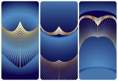 Elegant templates set with golden elements royalty free illustration
