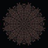 Elegant and tender lace circle pattern Royalty Free Stock Photos