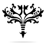 Elegant text divider design in stylized fancy fleur-de-lis symbol Royalty Free Stock Photos
