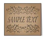Elegant text frame. Floral vintage hand drawn vignettes. Beautif Royalty Free Stock Image