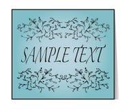 Elegant text frame. Floral vintage hand drawn vignettes. Stock Image