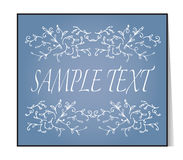Elegant text frame. Floral vintage hand drawn vignettes. Stock Photos