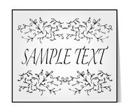 Elegant text frame. Floral vintage hand drawn vignettes. Royalty Free Stock Photos
