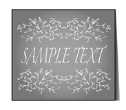 Elegant text frame. Floral vintage hand drawn vignettes. Royalty Free Stock Photo
