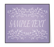 Elegant text frame. Floral vintage hand drawn vignettes. Stock Images
