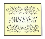 Elegant text frame. Floral vintage hand drawn vignettes. Royalty Free Stock Images
