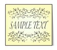 Elegant text frame. Floral vintage hand drawn vignettes. Royalty Free Stock Images