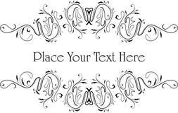 Elegant text frame. Vector. Illustration Royalty Free Stock Photography