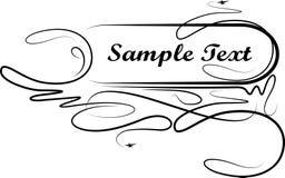 Elegant text frame. Vector Stock Photo
