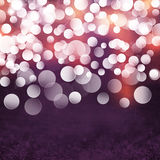 Elegant Textured Grunge Purple, Gold, Pink Christmas Light Bokeh Background Royalty Free Stock Image