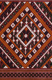 The Elegant Thai art on hand-woven fabrics Stock Photo