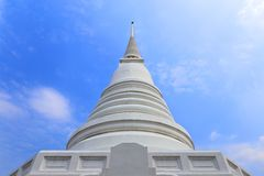 Plain white colored chedi Royalty Free Stock Image