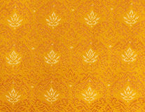 Elegant thai pattern fabric Royalty Free Stock Photography