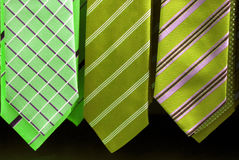 Elegant ties. A selection of colorful ties. I have photographed in a store Stock Photography