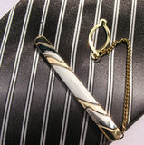 Elegant ties with a clips Stock Photo