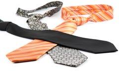 Elegant ties on white Royalty Free Stock Images