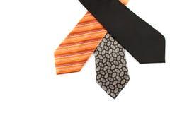 Elegant ties on white Stock Images
