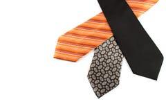 Elegant ties on white Royalty Free Stock Photo