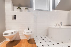 Elegant toilet interior Stock Photo